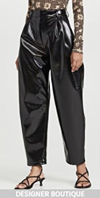 Trousers with Front Pleats