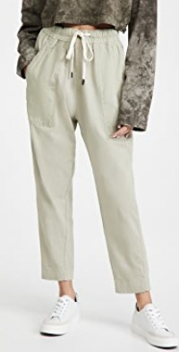 Double Jersey Contrast Tapered Pants