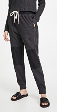 Waffle Contrast Detail Track Pants