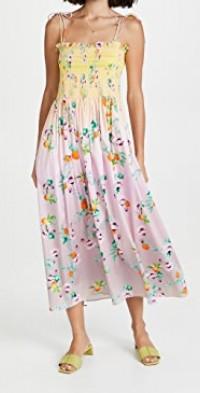 Ombre Floral Smocked Dress