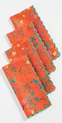Scallop Embroidered Edge Napkins