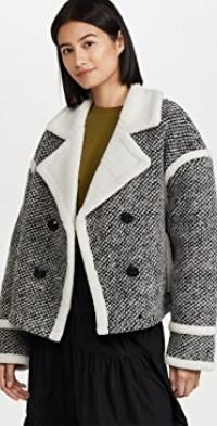 Anagram Faux Fur Jacket