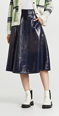 Arch Crackled Pleather Skirt