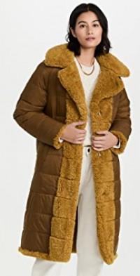 Reversible Alexander Faux Fur Puffer Coat