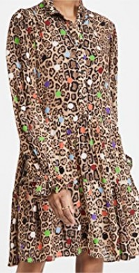 Zex Ruffled Collar Dress
