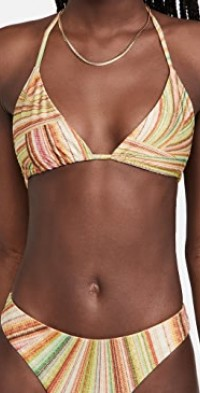 Tia Metallic Bikini Top