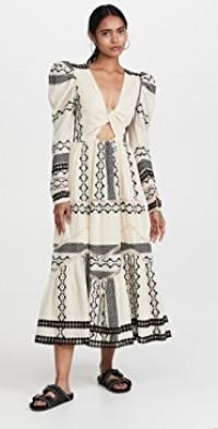 Twisted Yoke Midi Dress