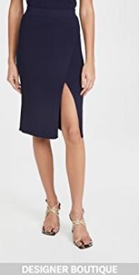 Deep Rip Wrap Skirt