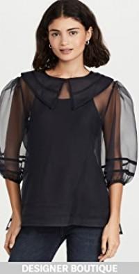 Katherine Organza Collar Blouse