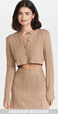 Crop Virgin Wool Cardigan