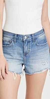 Audrey Mid Rise Denim Shorts