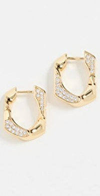 Pave Cuban Link Hoops