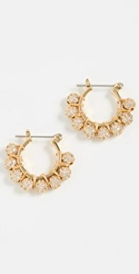 Pave Dome Wrap Hoops