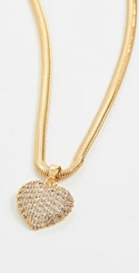 Pave Puffy Heart Necklace