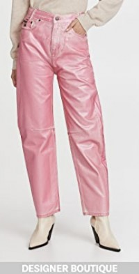 Coated Metallic Jeans