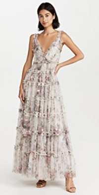 Floral Swan Cami Gown