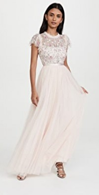 Lovell Ditsy Bodice Gown