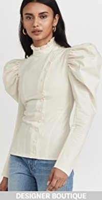 Blouse With Volumous Sleeve