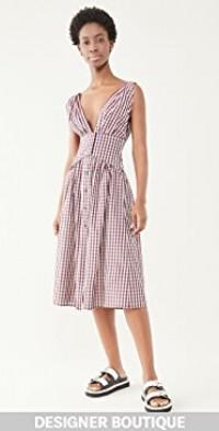 Vichy Taffeta Midi Dress