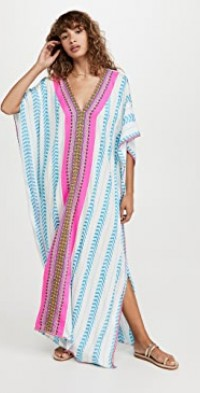 Embroidered Throbe Cover Up