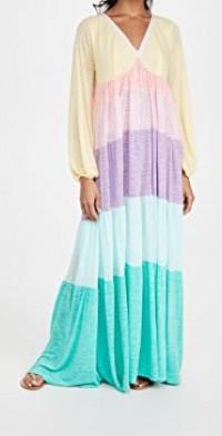 Rainbow V Neck Dress