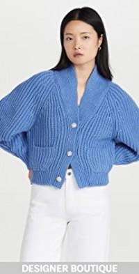 Blue Gem Button Cardigan