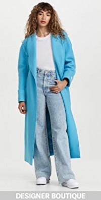 Blue Raglan Wrap Coat