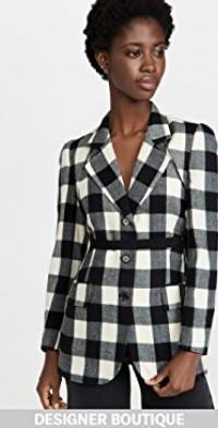 Check Bolero Layered Jacket