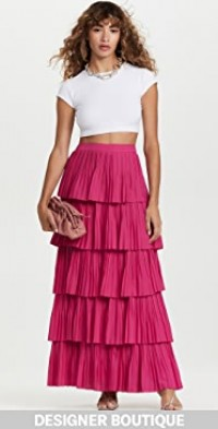 Pink Pleated Cancan Skirt
