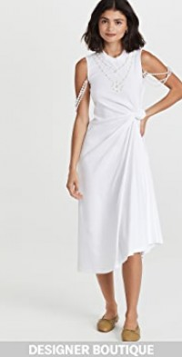 Pearl Knotted Tee Dress