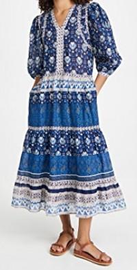 Brigitte Border Maxi Dress