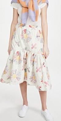 Linden Patchwork Quilted Skirt