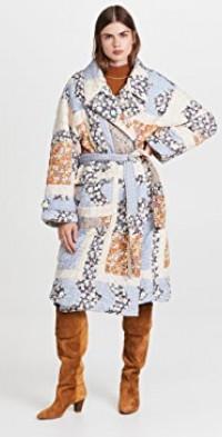 Sydney Print Quilted Coat