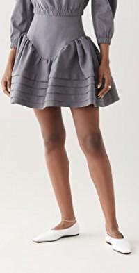 High Waist Ruffle Skirt