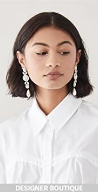 Jewelled Drop Cameo Earrings