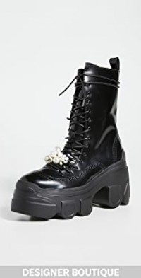 Tracker Sole Lace Up Boots