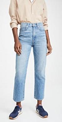 London Crop High Rise Straight Leg Jeans