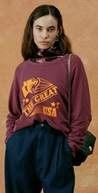 The College Sweatshirt with Cougar Graphic