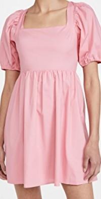 Tie Back Puff Sleeve Mini Dress