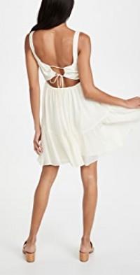 Tie Back Tiered Mini Dress