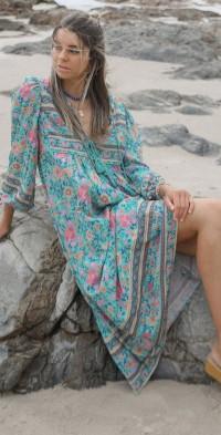 Pre-Order ~ Folk Town Boho Midi Dress