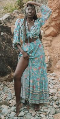Pre-Order ~ Folk Town Maxi Skirt