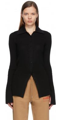 AMBUSH Black Wool Knitted Cardigan