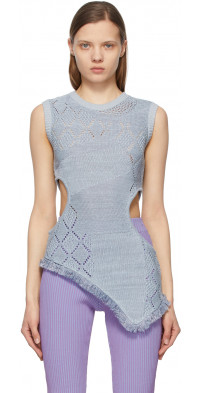 Andersson Bell Blue Cut-Out Roxy Tank Top