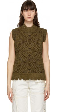 Andersson Bell Brown & Green Heavy Jacquard Sweater