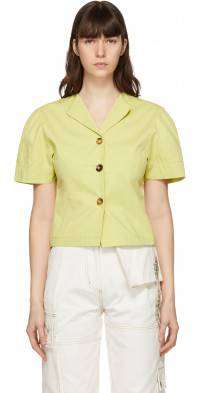 Andersson Bell Green Volume Sleeve Carina Shirt