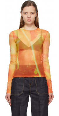 Andersson Bell Orange Mesh Film Archive Long Sleeve T-Shirt