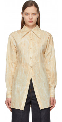 Andersson Bell Yellow Big Collar Barbara Waisted Fit Shirt