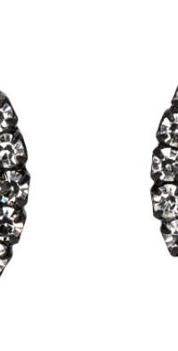Ashley Williams Black & Red Pentagram Clip-On Earrings