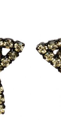 Ashley Williams Black & Yellow Star Heart Clip-On Earrings